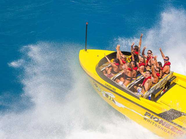 jet boat tour jumping a wave